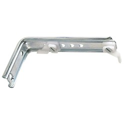 Soporte Doble Para Riel Aluminio Blanco Reforzado