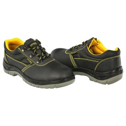 Zapatos Seguridad S3 Piel Negra Wolfpack  Nº 40 Vestuario Laboral,calzado Seguridad, Botas Trabajo. (Par)