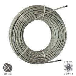 Cable Galvanizado  16  mm. (Rollo 100 Metros) No Elevacion