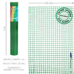 Tela Mosquitera Fibra Vidrio Gris 18x16/100 cm. Rollo 50 metros.